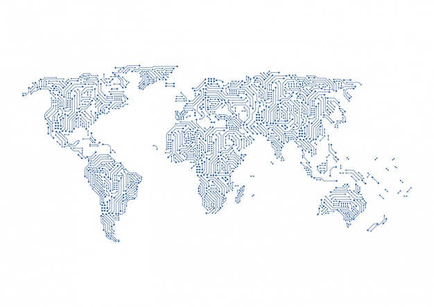 Digitale netzwerkverbindung für globale netzwerke.