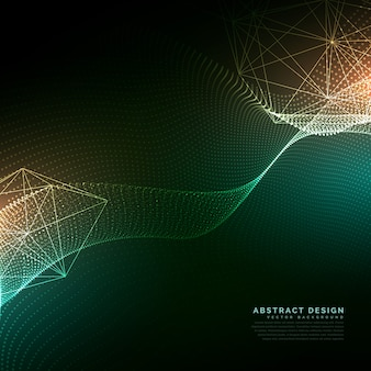 Digitale partikel fließenden hintergrund in cyber-technologie-stil