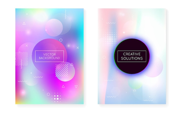 Digitale präsentation. minimalistisches muster. einfache punkte. blaulicht-fluid. trendiger flyer. hipster-design. runde halbtonelemente. raumkonzept. violette digitale präsentation