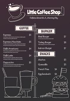 Digitale restaurantmenüvorlage