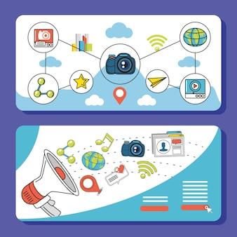 Digitale social-media-marketing-apps