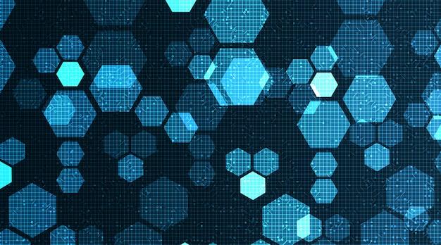 Digitale technologie auf mikrochip-hintergrund, hi-tech- und polygon-konzeptdesign