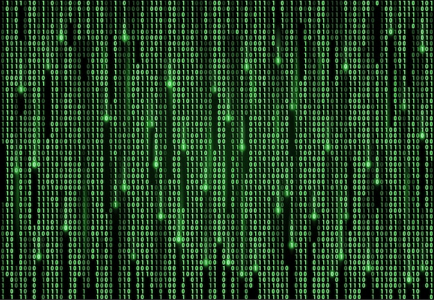 Digitale technologie der binärcode-matrix