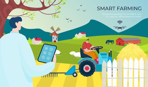 Digitale technologie der landwirtschaft smart farm