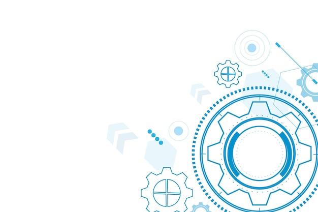 Digitale technologie und engineering digitales telekommunikationskonzept hitech futuristische technologie