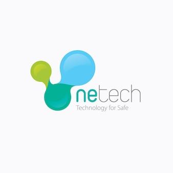 Digitale technologie und internet-logo