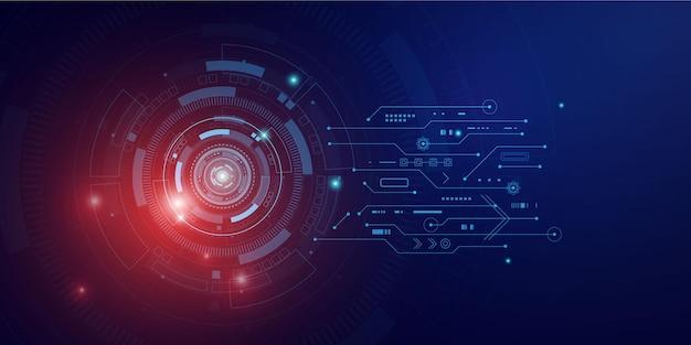 Digitale technologie und technik, digitales telekommunikationskonzept, hi-tech, futuristischer technologiehintergrund,