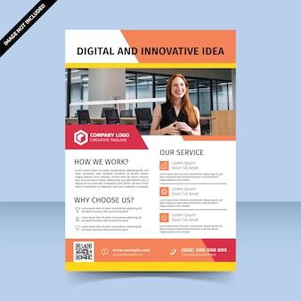 Digitale und innovative idee für farbenfrohe flyer-design-vorlage