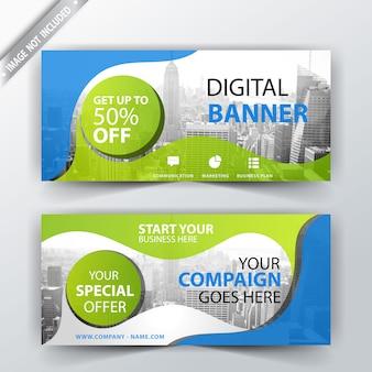 Digitale unternehmens-banner