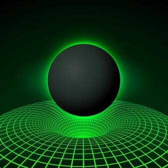 Digitale visualisierung schwarzes loch