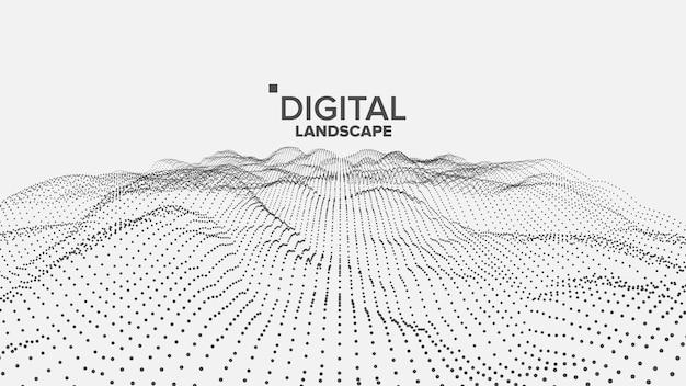 Digitale weiße landschaft