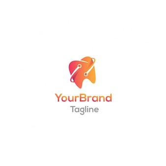 Digitale zähne logo vorlage