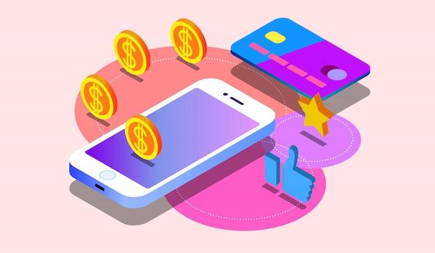 Digitale zahlung oder online-cashback-service.