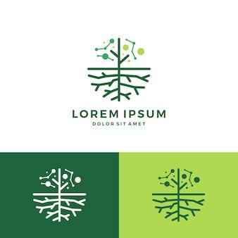 Digitaler baum und root-logo