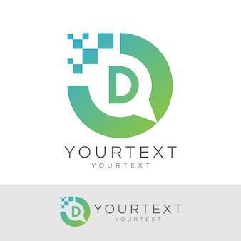Digitaler berater initial letter d logo design
