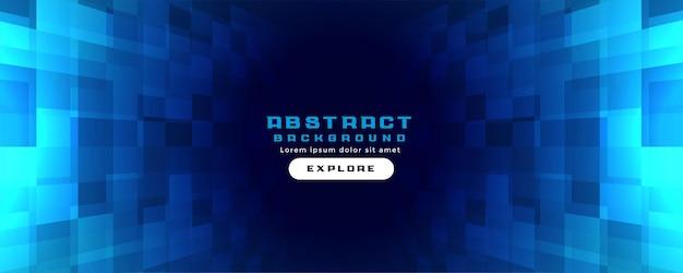 Digitaler blauer technologiehintergrund mit geometrischer perspektivischer form