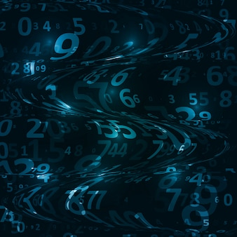 Digitaler code hintergrund