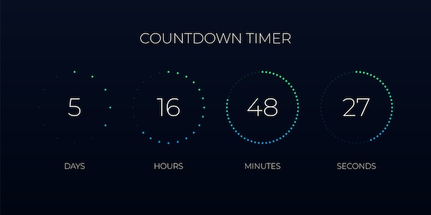 Digitaler countdown-timer