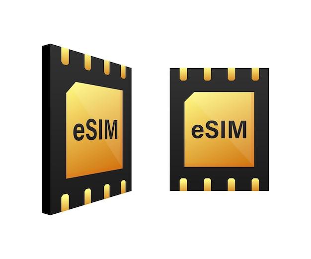Digitaler e-sim-chip-motherboard-digitalchip