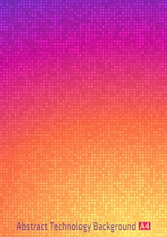 Digitaler farbverlaufhintergrund des abstrakten bunten technologiekreises pixel. heller geschäftsmusterhintergrund mit runden pixeln.