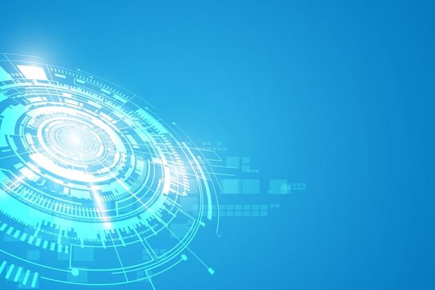 Digitaler futuristischer konzepthintergrund der technologie science fiction Premium Vektoren