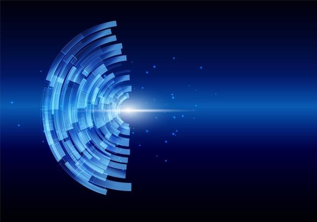 Digitaler hintergrund der abstrakten technologie