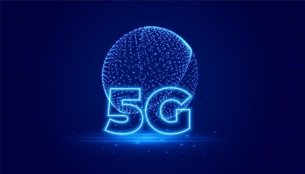 Digitaler hintergrund der telekommunikationstechnologie 5g