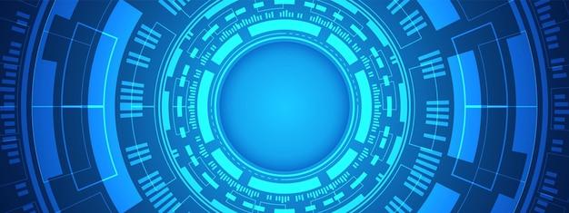 Digitaler hintergrund des abstrakten kreises, intelligente linsentechnologie