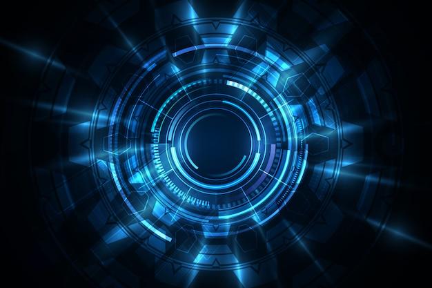 Digitaler innovativer konzepthintergrund der abstrakten technologie