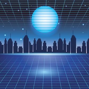 Digitaler stadtbildhintergrund