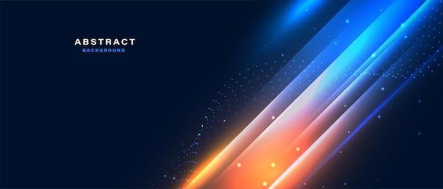 Digitaler technologiehintergrund mit abstraktem glänzendem lichteffekt Premium Vektoren