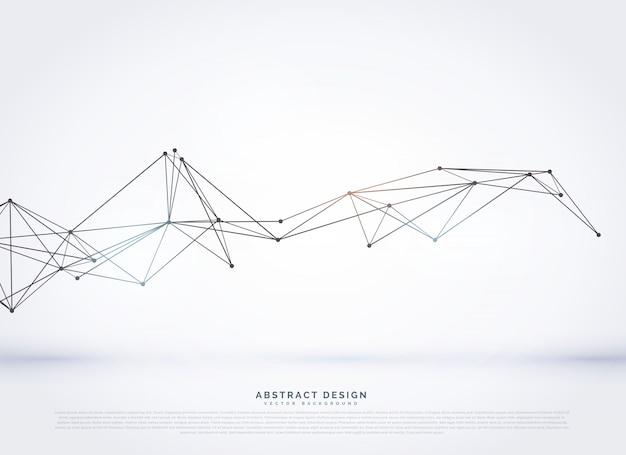 Digitaler vektor-mesh-hintergrund mit poly-linien