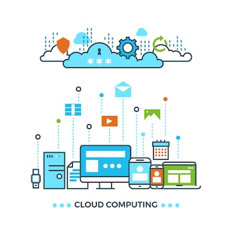 Digitales cloud-computing-konzept