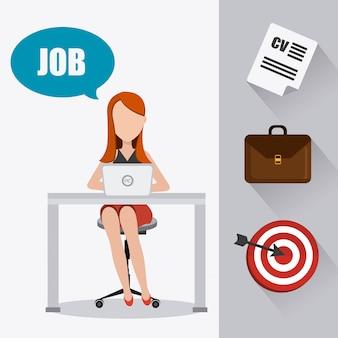Digitales design des jobs.