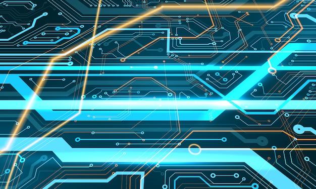 Digitales design mit modernem design der modernen technologie. abstrakter texturhintergrund