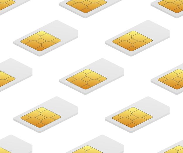 Digitales e-sim-chip-motherboard-digital-chip nahtloses muster