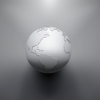 Digitales erdbild des globus. die konzeptillustration