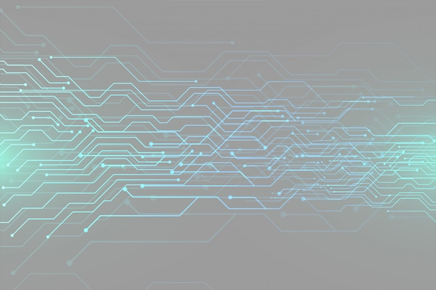 Digitales futuristisches schaltplan-technologie-bannerdesign