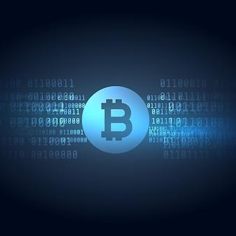 Digitales geld bitcoins technologie stil hintergrund