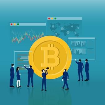 Digitales geldkonzept