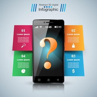Digitales Gerät, Smartphone-Tablet-Symbol.