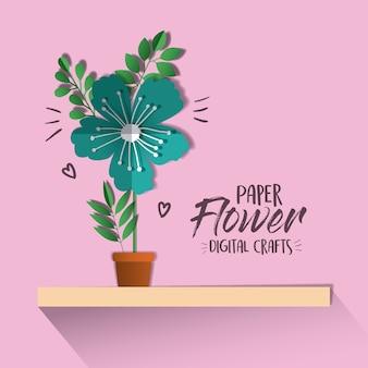 Digitales handwerk der papierblume