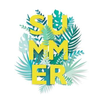 Digitales handwerk. sommer tropisch