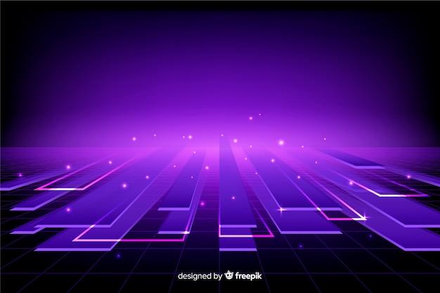 Digitales konzept der steigung des horizontes