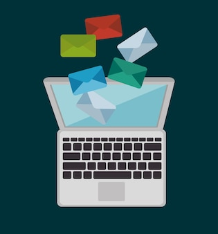 Digitales marketing e-commerce-symbol vektor-illustration-design