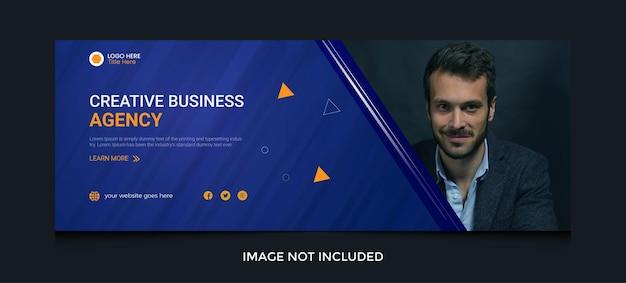 Digitales marketing-facebook-cover in abstraktem design