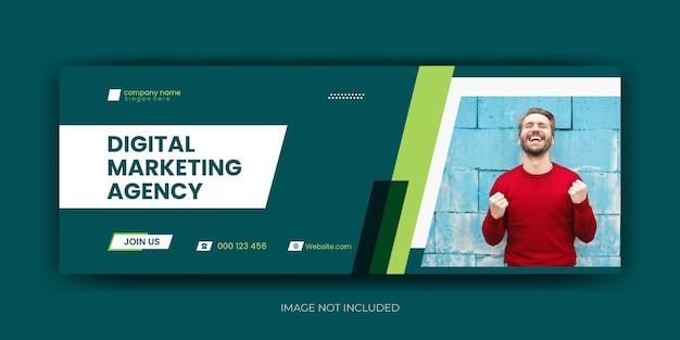 Digitales marketing facebook cover premium vektor vorlage