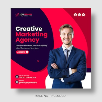 Digitales marketing für corporate social media post und webbanner oder marketing promotion post design