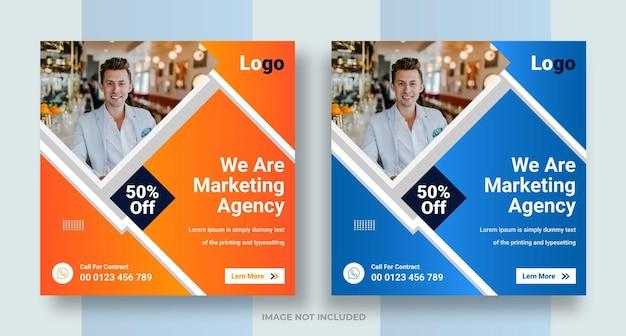 Digitales marketing-geschäft social media instagram-post-web-banner-design