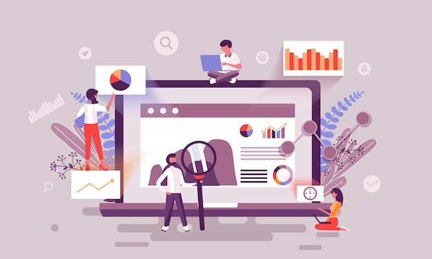 Digitales marketing-illustration